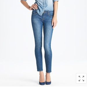 J. Crew ankle stretch toothpick jean in sea blue